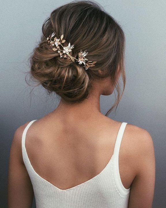 chignon wedding hairstyle